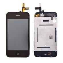 Kompletně osazená přední čast (LCD, digitizér atd.) pro Apple iPhone 3G - černý rámeček - kvalita A