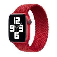 Řemínek pro Apple Watch 44mm Series 4 / 5 / 6 / SE / 42mm 1 / 2 / 3 - bez spony - nylonový - velikost M - červený
