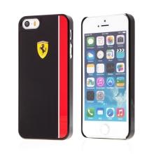 Kryt FERRARI pro Apple iPhone 5 / 5S / SE - plastový - logo Ferrari - černý