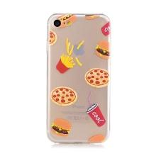 Kryt pro Apple iPhone 7 / 8 - gumový - průhledný - fast food