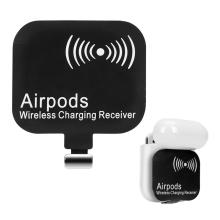 Podložka / přijímač pro bezdrátové nabíjení Qi pro Apple Airpods s Lightning konektorem - černý