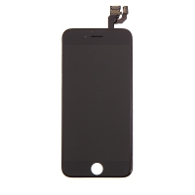 LCD panel + dotykové sklo (touch screen digitizér) pro Apple iPhone 6 - osazený černý - kvalita A+