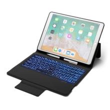 """Klávesnice Bluetooth + kryt / pouzdro pro Apple iPad 10,2"""" - umělá kůže - černá / šedá"""