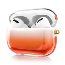 Pouzdro KINGXBAR pro Apple AirPods Pro - plastový - barevný přechod - oranžové