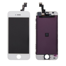 LCD panel + dotykové sklo (touch screen digitizér) pro Apple iPhone 5S / SE - bílý - kvalita A