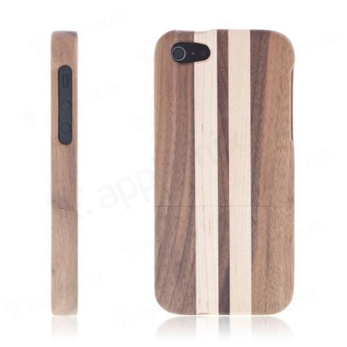 Dřevěný ochranný kryt Two Stripes Wood pro Apple iPhone 5   5S   SE ... 3d7027b9525