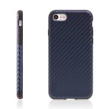 Kryt ROCK pro Apple iPhone 7 / 8 gumový / karbonový vzor - modrý