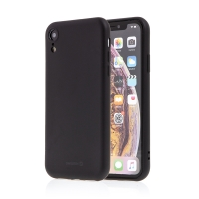 Kryt SWISSTEN Soft Joy pro Apple iPhone Xr - příjemný na dotek - silikonový - černý