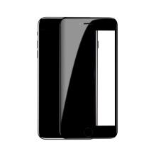 Tvrzené sklo (Tempered Glass) BASEUS 5D pro Apple iPhone 7 / 8 - černý rámeček - 3D hrana - 0,33mm