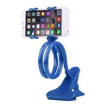 Držák / stojan pro Apple iPhone - ohebný - s klipem - plast / kov - modrý