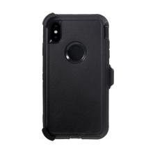 Pouzdro pro Apple iPhone Xs Max - odolné - držák za opasek - plast / guma - černé