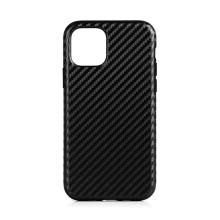 Kryt pro Apple iPhone 11 Pro Max - karbonová textura - gumový / umělá kůže
