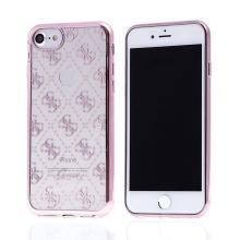 Kryt GUESS G pro Apple iPhone 7 / 8 - gumový - průhledný / Rose Gold