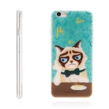 Kryt LOFTER pro Apple iPhone 6 / 6S gumový - hladová kočka