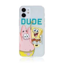 Kryt Sponge Bob pro Apple iPhone 12 mini - gumový - Sponge Bob s Patrikem