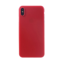 Kryt / obal pro Apple iPhone Xs Max - ochrana čočky - ultratenký - plastový - matný - červený