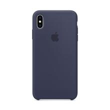 Originální kryt pro Apple iPhone Xs Max - silikonový - půlnočně modrý