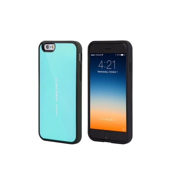 Plasto-gumový kryt Mercury pro Apple iPhone 6 / 6S - prostor pro umístění platební karty / dokladů na vnitřní straně - tyrkysový