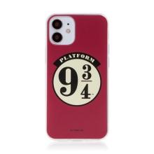 Kryt Harry Potter pro Apple iPhone 12 mini - gumový - nástupiště 9 a 3/4 - červený