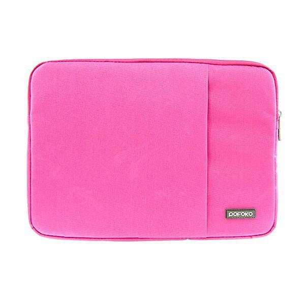 Pouzdro POFOKO se zipem pro Apple MacBook Air / Pro 13 - růžové