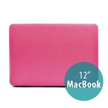 Plastový obal / kryt pro Apple MacBook 12 Retina (rok 2015) - povrch umělá kůže - růžový