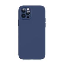 Kryt USAMS pro Apple iPhone 12 Pro - MagSafe kompatibilní - příjemný na dotek - silikonový - modrý