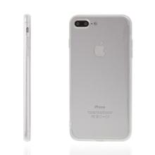 Kryt pro Apple iPhone 7 Plus / 8 Plus plasto-gumový - antiprachová záslepka - průhledný