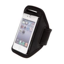 Sportovní pouzdro pro Apple iPhone 4 / 4S / 5 / 5S / SE - oválný výřez - černé