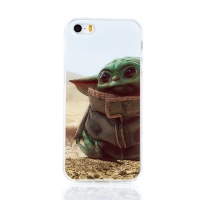 Kryt STAR WARS pro Apple iPhone 5 / 5S / SE - gumový - Mandalorian / Baby Yoda