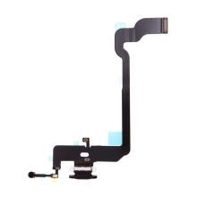Napájecí a datový konektor s flex kabelem + GSM anténa + mikrofony pro Apple iPhone Xs - černý - kvalita A+