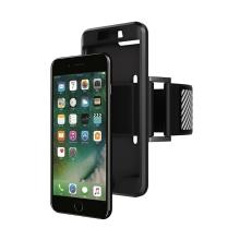 Sportovní pouzdro / kryt pro Apple iPhone 7 Plus / 8 Plus - pásek na ruku - gumové - černé