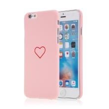 Kryt pro Apple iPhone 6 / 6S - srdce - plastový - růžový