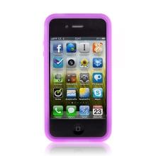 Ochranný rámeček / bumper pro Apple iPhone 4 gumový - fialový