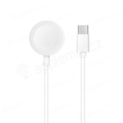 Synchronizační a nabíjecí kabel USB-C pro Apple Watch - 1m - bílý
