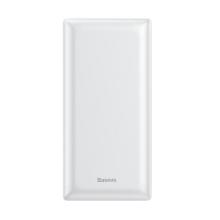 Externí baterie / power bank BASEUS - 2x USB + Micro USB + USB-C - 20000 mAh - bílá