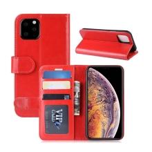 Pouzdro pro Apple iPhone XI Max - prostor pro platební karty - umělá kůže - červené