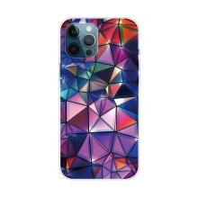 Kryt pro iPhone 12 Pro Max - gumový - barevné geometrické tvary