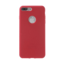 Kryt pro Apple iPhone 7 Plus / 8 Plus - ultratenký - gumový - červený