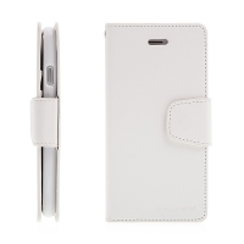 Pouzdro Mercury Sonata Diary pro Apple iPhone 7 / 8 / SE (2020) - stojánek a prostor na doklady - bílé