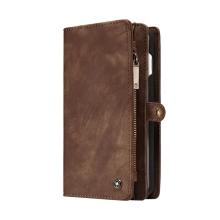 Pouzdro / peněženka CASEME pro Apple iPhone 7 Plus / 8 Plus - umělá kůže - světle hnědé