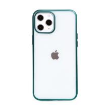 Kryt FORCELL Electro Matt pro Apple iPhone 12 Pro Max - gumový - průhledný / zelený