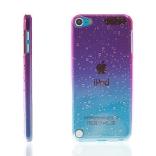 Plastový kryt pro Apple iPod touch 5.gen. - 3D dešťové kapky - růžový