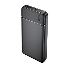 Externi baterie / power bank MAXLIFE - 2x USB + USB-C - 10000 mAh - černá