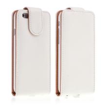 Pouzdro pro Apple iPhone 6 / 6S - magnetické uzavírání + prostor pro platební kartu - hnědé / bílé