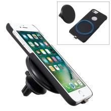 Držák do auta magnetický + Qi nabíječka + pouzdro pro bezdrátové nabíjení pro Apple iPhone 6 / 6S / 7 - černý