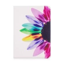 """Pouzdro / kryt pro Apple iPad Pro 10,5"""" / Air 10,5"""" (2019) - prostor pro doklady + stojánek - barevná květina"""
