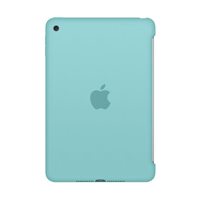 Originální kryt pro Apple iPad mini 4 - výřez pro Smart Cover - silikonový - jezerně modrý