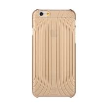 Plastový kryt BASEUS pro Apple iPhone 6 / 6S - výrazná struktura - průhledný zlatě probarvený