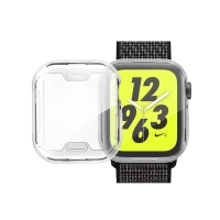 Kryt pro Apple Watch 4 / 5 / 6 / SE 44mm - stříbrný - gumový