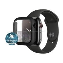 Tvrzené sklo + rámeček PANZERGLASS pro Apple Watch 44mm Series 4 / 5 / 6 / SE - černý